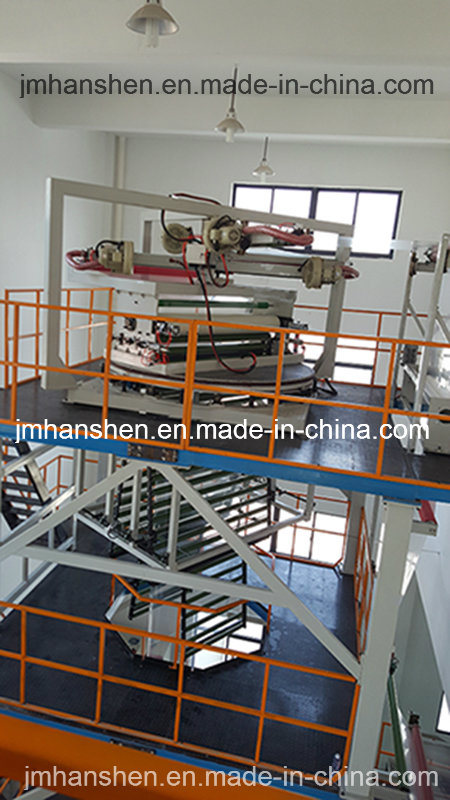 Two Layers Co-Extrusion Lifting Rotary Plastic Film Making Machine pictures & photos