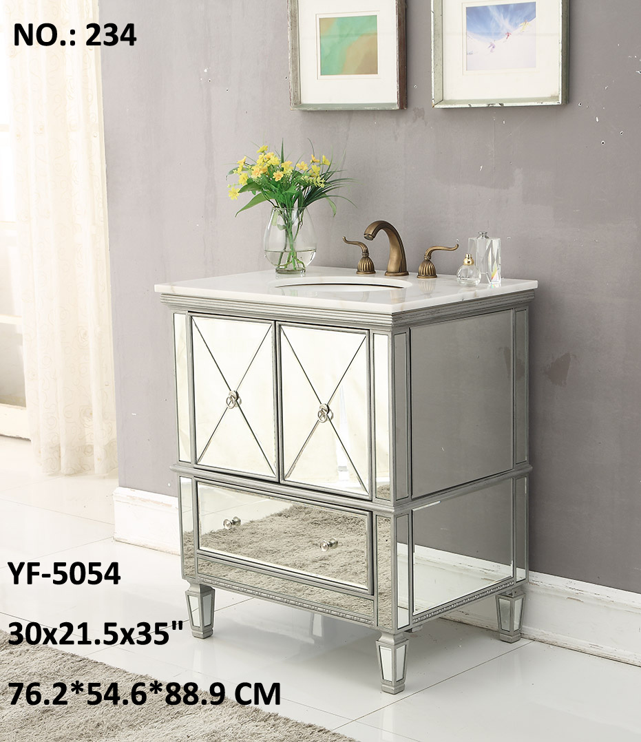 New Fashion 3 Drawer /4 Door Cabinet Mirror Furniture