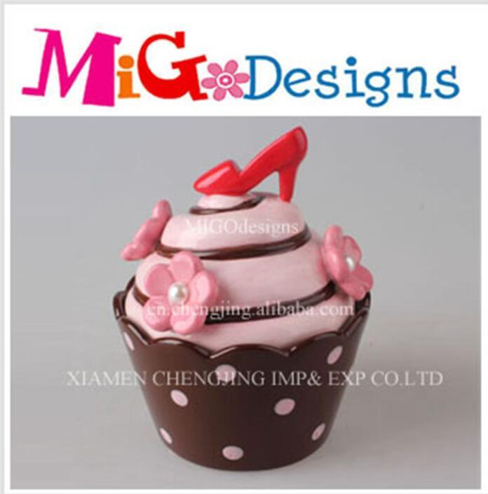 Stiletto Lid Gift Ceramic Icecream Cake Candy Canister