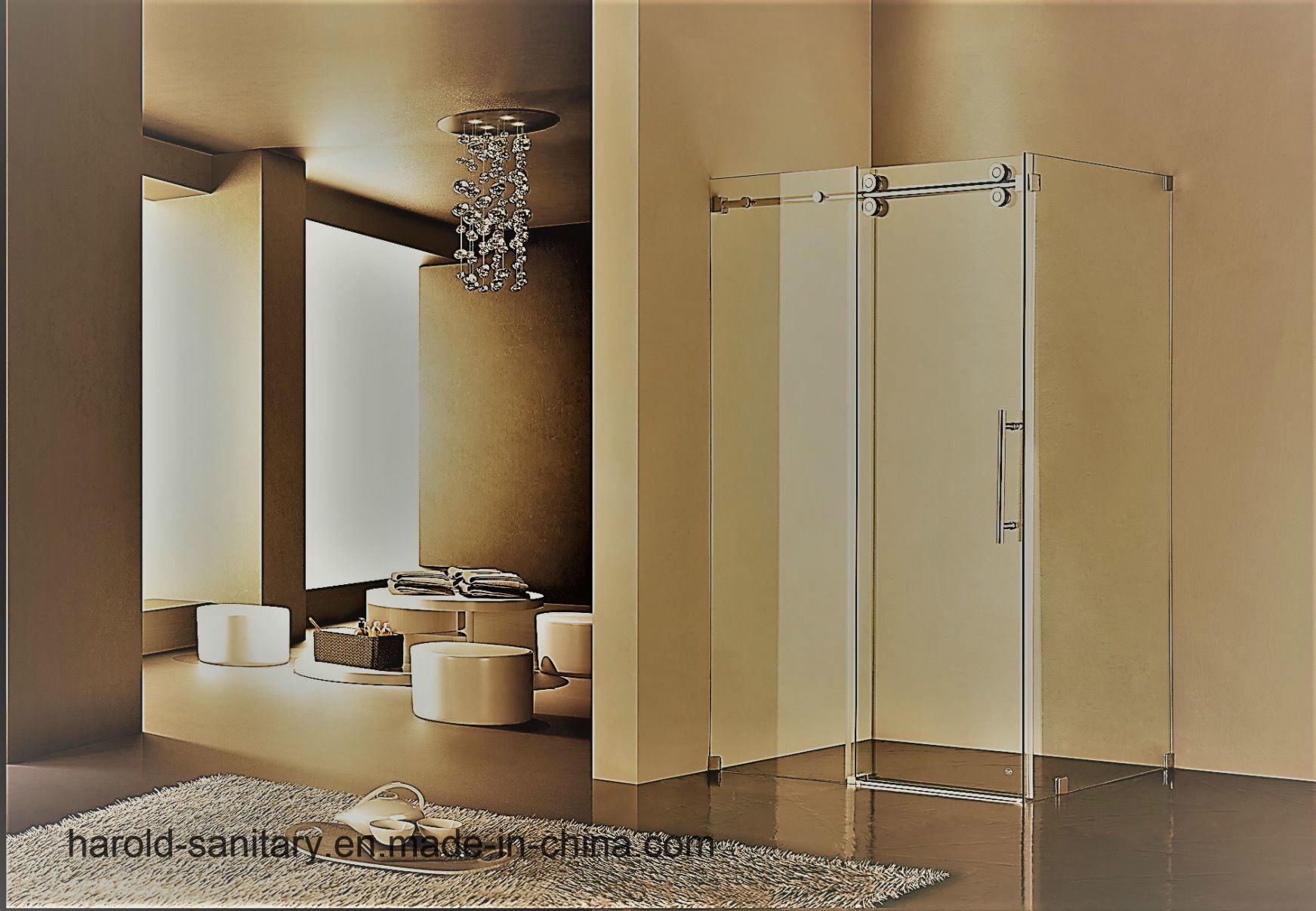 Hot Item Luxury Frameless Roller Sliding Glass Shower Door