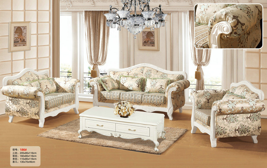 Royal Style Leather Sofa New Living Room Furniture 186