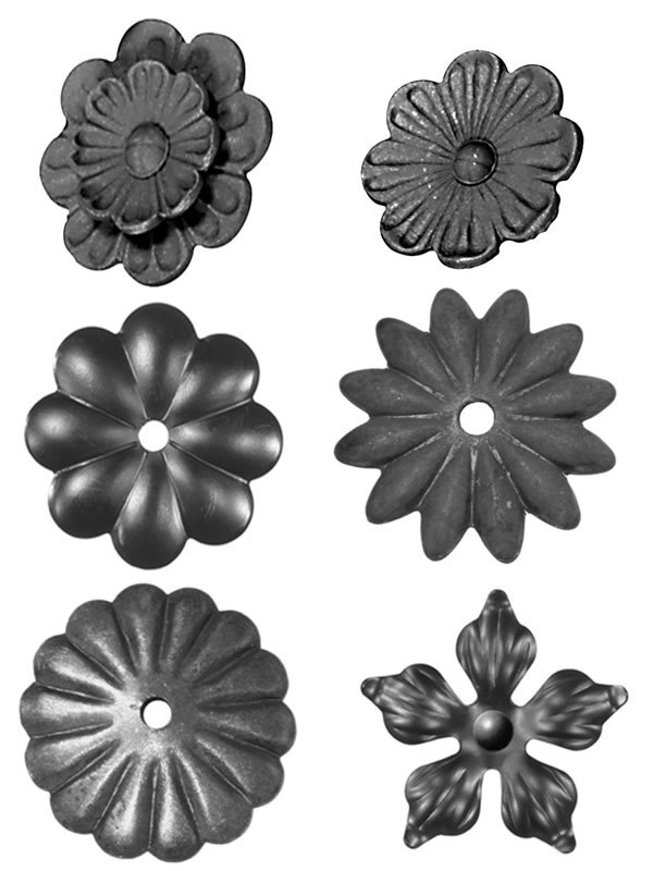 China Cast Iron Fence Ornaments Stamped Flower China