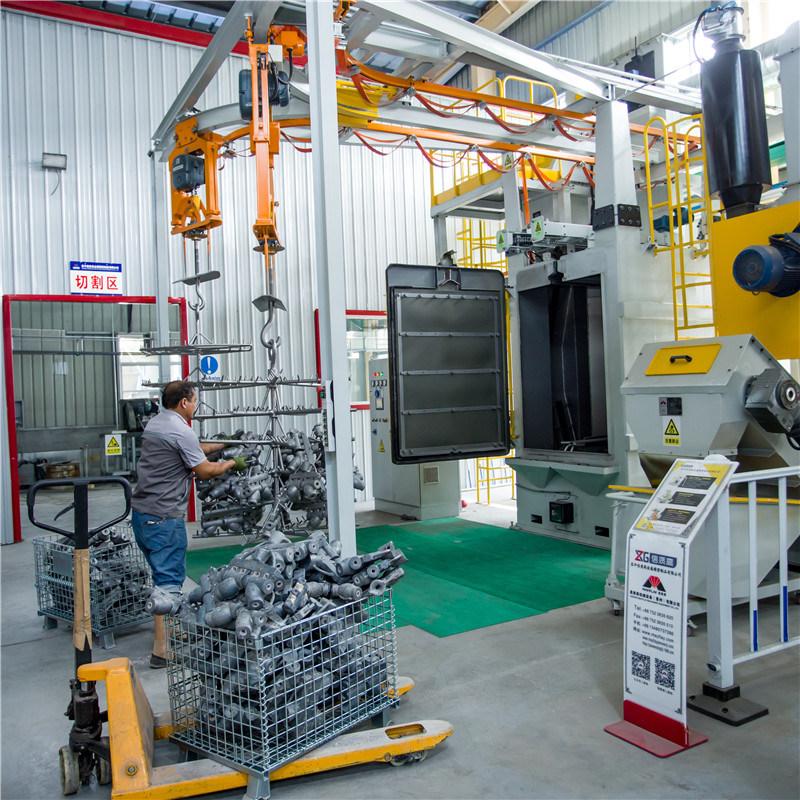 [Hot Item] China Blasting Shot Cleaning Machine Manufacturer & Suppliers  Mayflay Machinery Hot Sales Hook Type Shot Blasting Machine with Siemens PLC