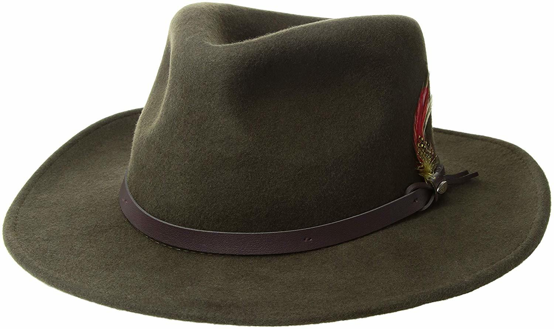 dd7ba92fdd8 China Wholesale Wool Felt Classic Men′s Crushable Felt Outback Cowboy Hat  Feather - China Leather Cowboy Hat