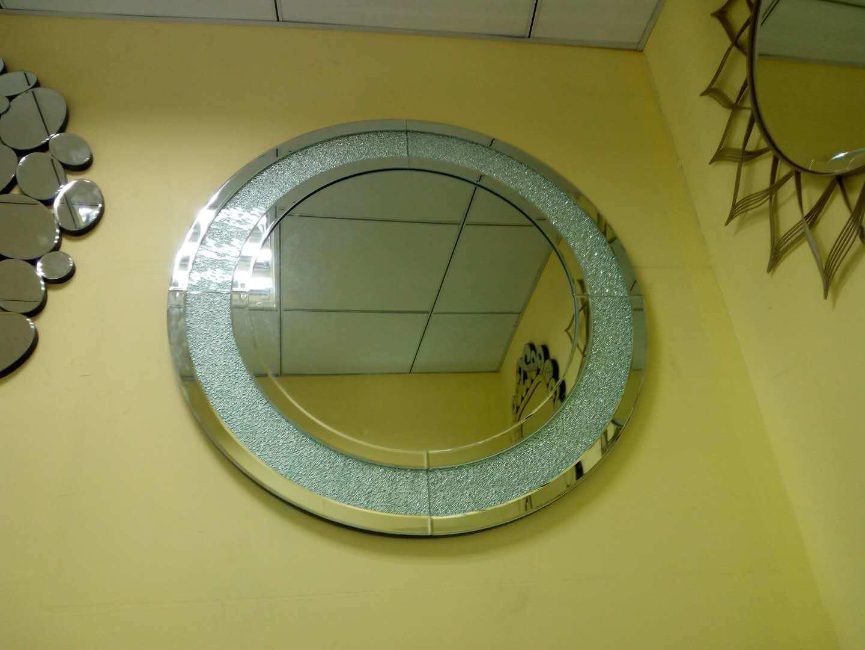 China Round Sun Smart Crystal Mirror Bathroom Decorative Wall Vanity ...