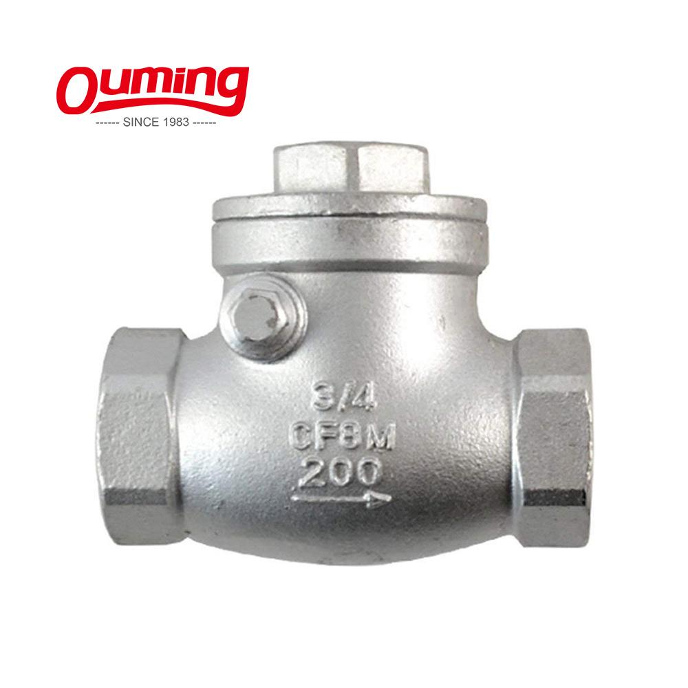 6 swinging check valve cast iron matchless