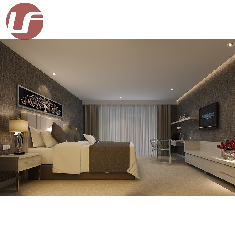 China Custom Made Commercial Good Quality Hotel Bedroom Furniture Set Headboard Wood Customized