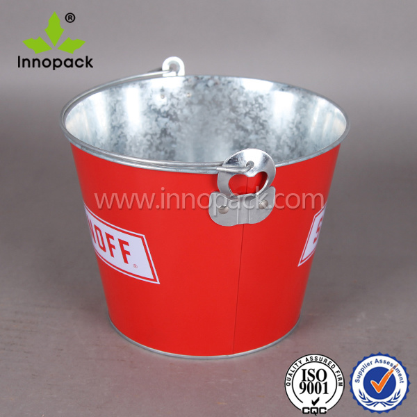 Printed Personalized Custom Galvanized Party Beer Ice Bucket for Sale pictures & photos