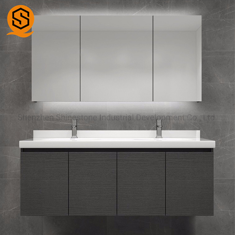 China Commercial Bathroom Double Sink Vanity Top Modern Countertop For Hotel China Artificial Stone Vanity Top Bathroom Vanity Top