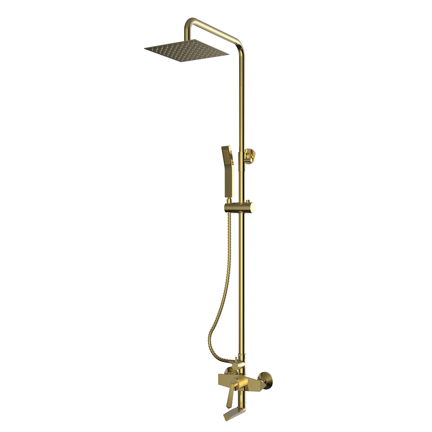 Hot Item Round Rose Gold Wall Mount Bathtub Mixet Faucet For Shower With Hose And Handheld Shower