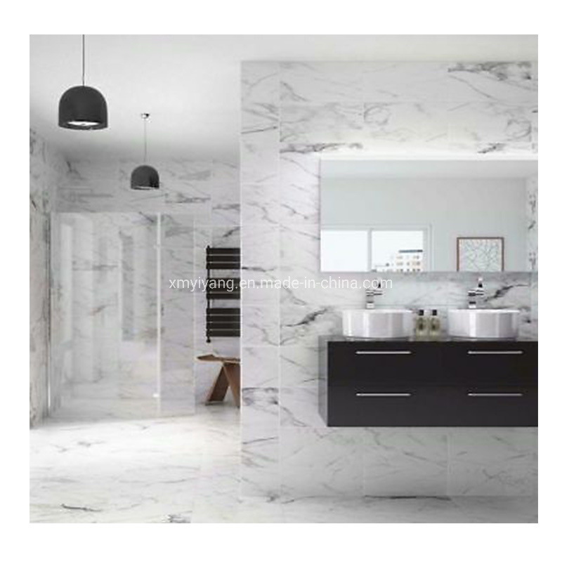 Pure Grey White Marble Flooring Tiles