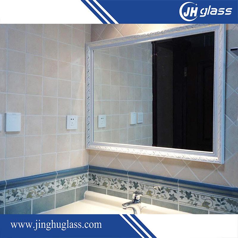 China Waterproof Frameless Bathroom Mirror Made Of Polished Edge