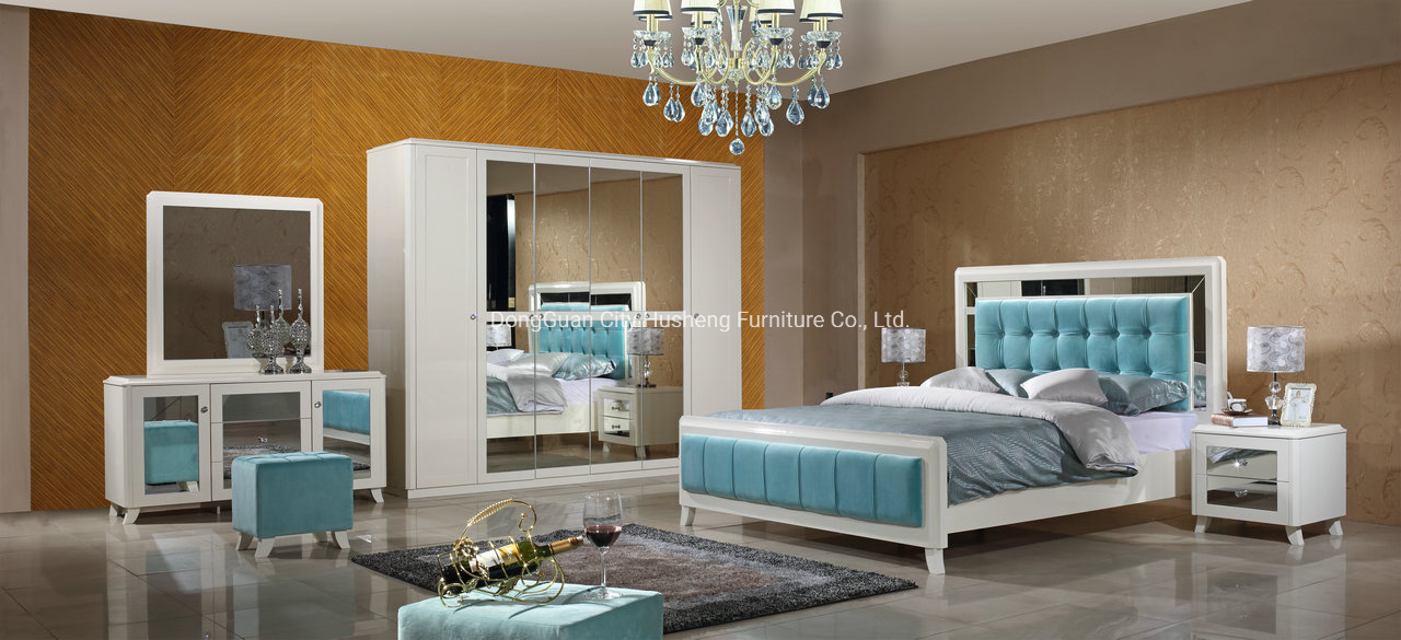 China High End Modern Wood High Gloss Mirrored Bedroom Sets Furniture China Bed Bedroom