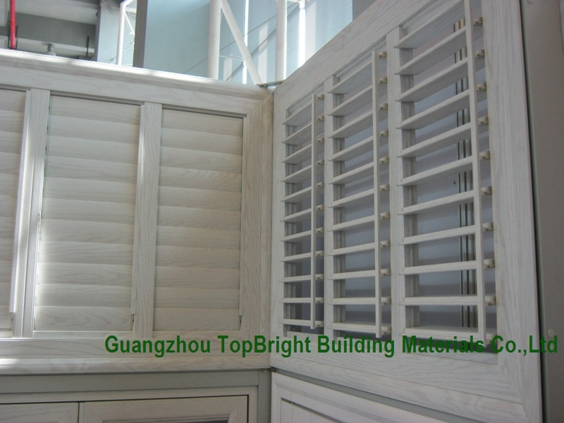 China White Wooden Louvered Casement Windows Wood Jalousie