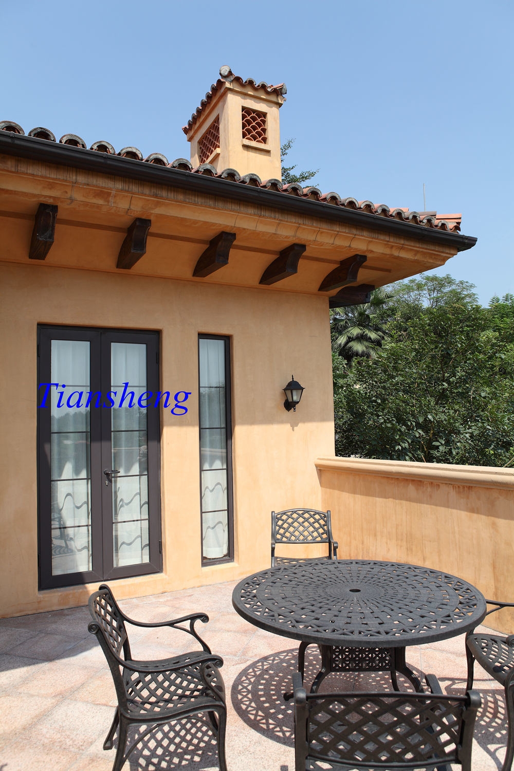 China Customzied French Door Price Double Glass German Hardware