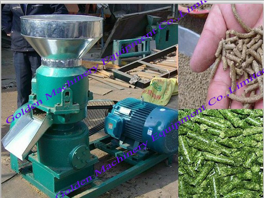 China Animal Feed Flat Die Wood Pellet Making Granulator Machine pictures & photos