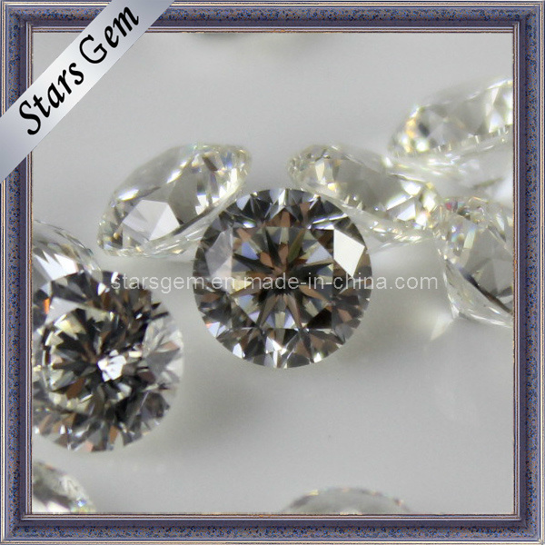 81 Facets Star Cut The Plum Blossom Round Gem CZ