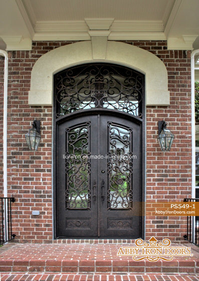 Genial China Super Quality Eyebrow Wrought Iron Entry Doors With Transom   China  Steel Door, Glass Door