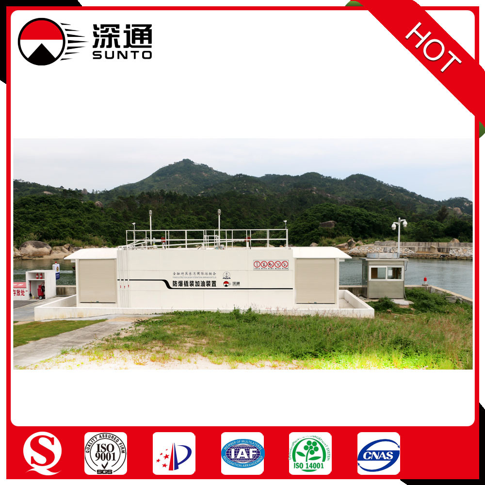 40FT Anti-Explosion Skid Mounted Fuel Station Mobile Fuel Station