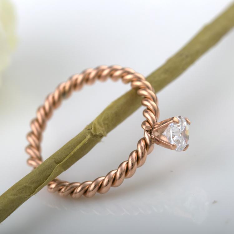 7608e335ad China Fashion Accessories Couples Jewelry Weaved Rose Gold Diamond ...