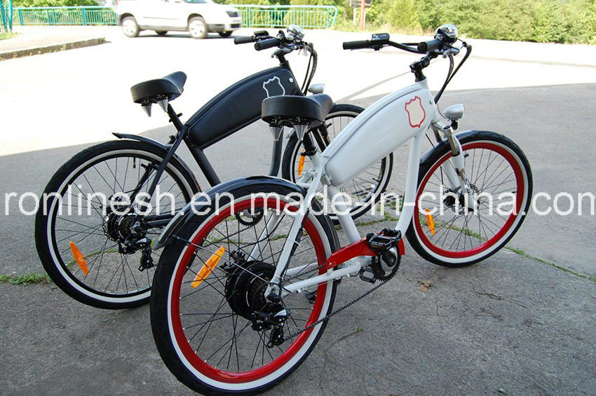 School Style or Beach Cruiser 250W/350W/500W Retro Classic Vintage Electric Bicycle/Electric Bike/E Bicycle/E Bike/Pedelec W Hidden Battery En15194, Ce