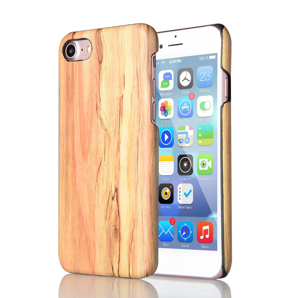 [Hot Item] Luxury Ultra Thin Slim Wood PC Case Cover for iPhone/Samsung,  Wooden Cover Case for iPhone6 /Samsung S8