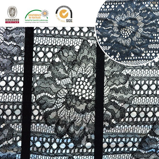 2017 High Quality Embroidery Lace Fabric Polyester Trimming Fancy Melt Polyster Lace for Garments & Home Textiles Ln10036 pictures & photos