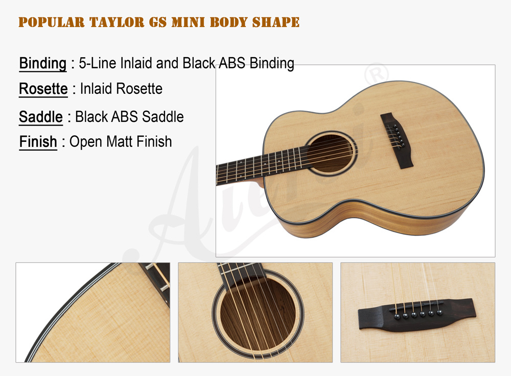 China Hot Sale Travel Size Mini Body Acoustic Guitar Photos
