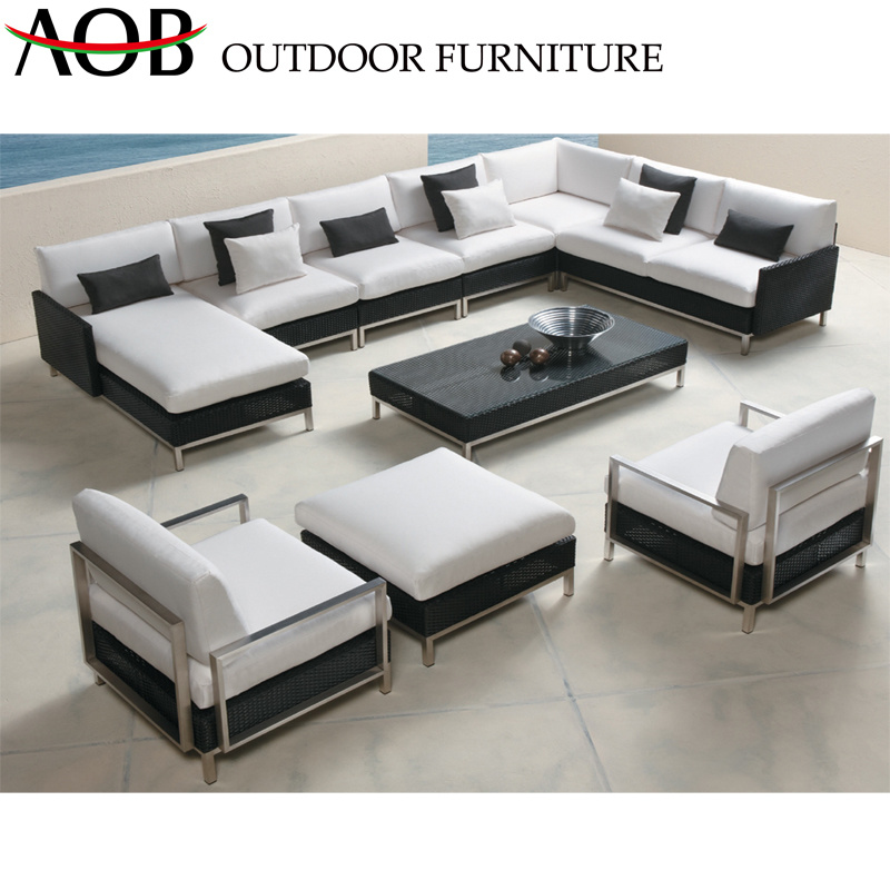 China Modern Corner Sofa L Shape, Outdoor Furniture Sectional Sofa
