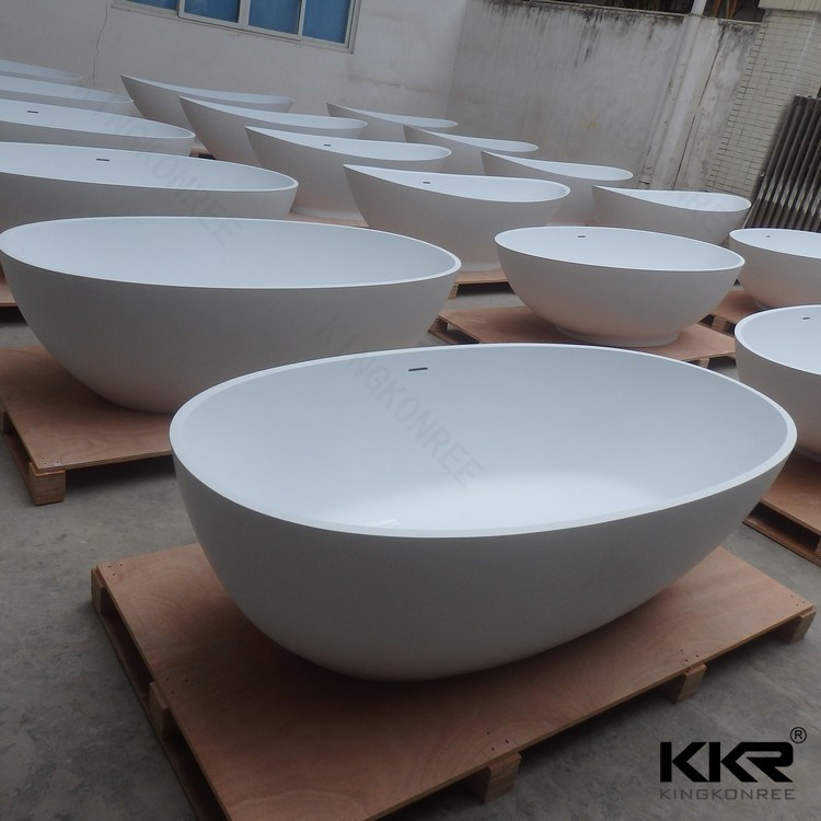 China Wholesale Acrylic Solid Surface Sanitary Ware Freestanding Bathtub