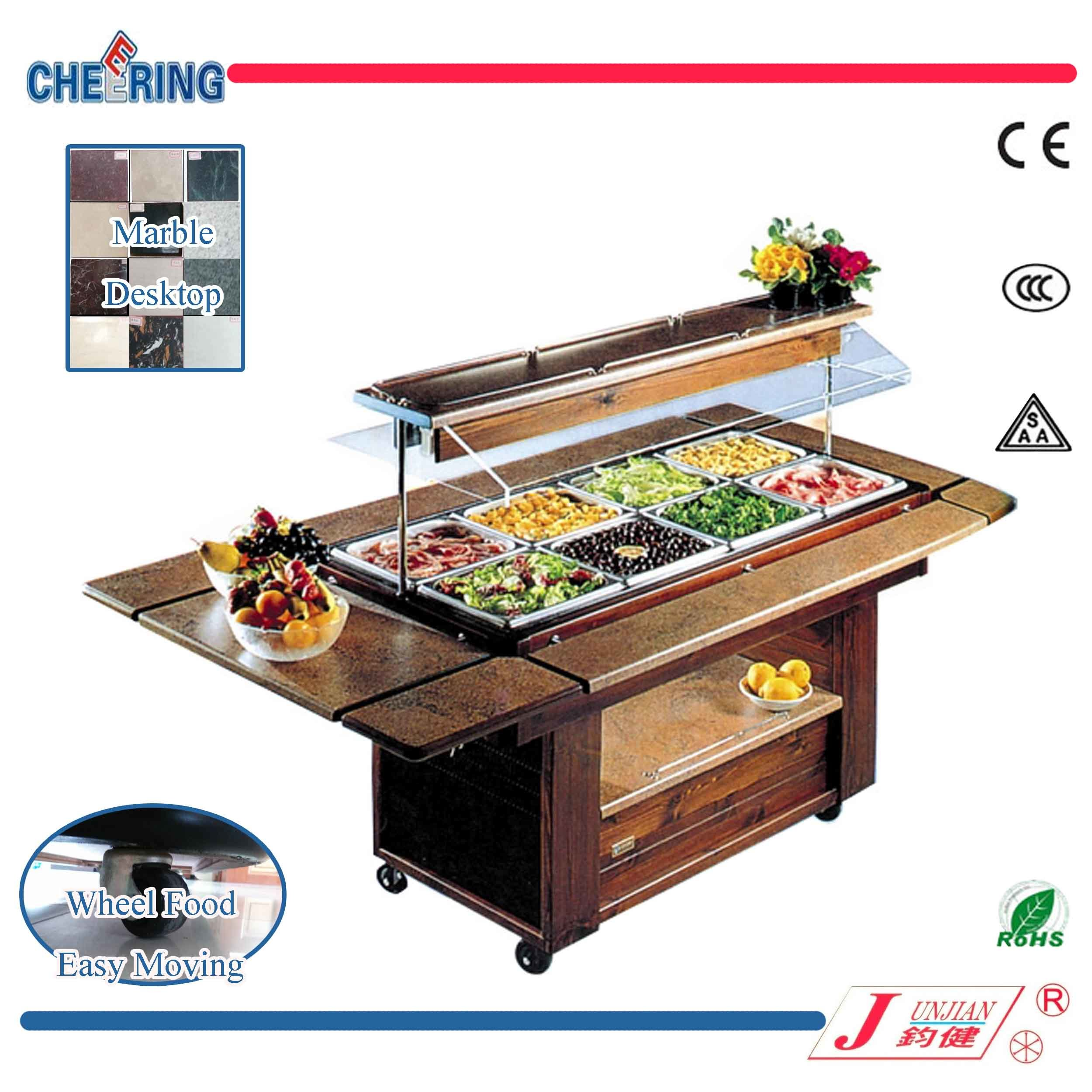 China Cheering Marble Around Salad Bar Refrigeration For