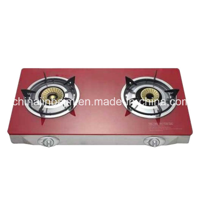 2 Burners Tempered Glass Top 100#Aluminum Burner Gas Cooker/Gas Stove