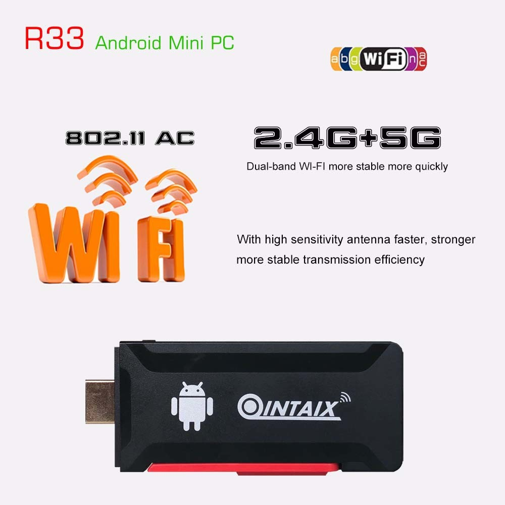 China Qintaix R33 Wireless Display HDMI TV Stick with USB TV