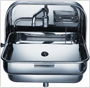 China Wallmount Stainless Steel Folding Hand Wash Basin RV Kitchen ...