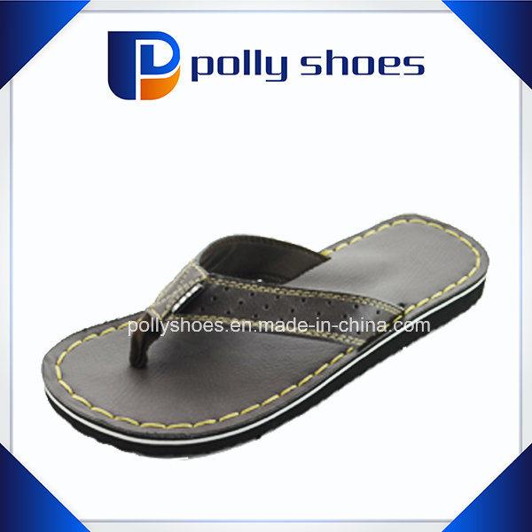 d95a985a16bd China Leahter Comfort Sandal Men Flip Flop Manufacturing - China Flip Flop  Manufacturing