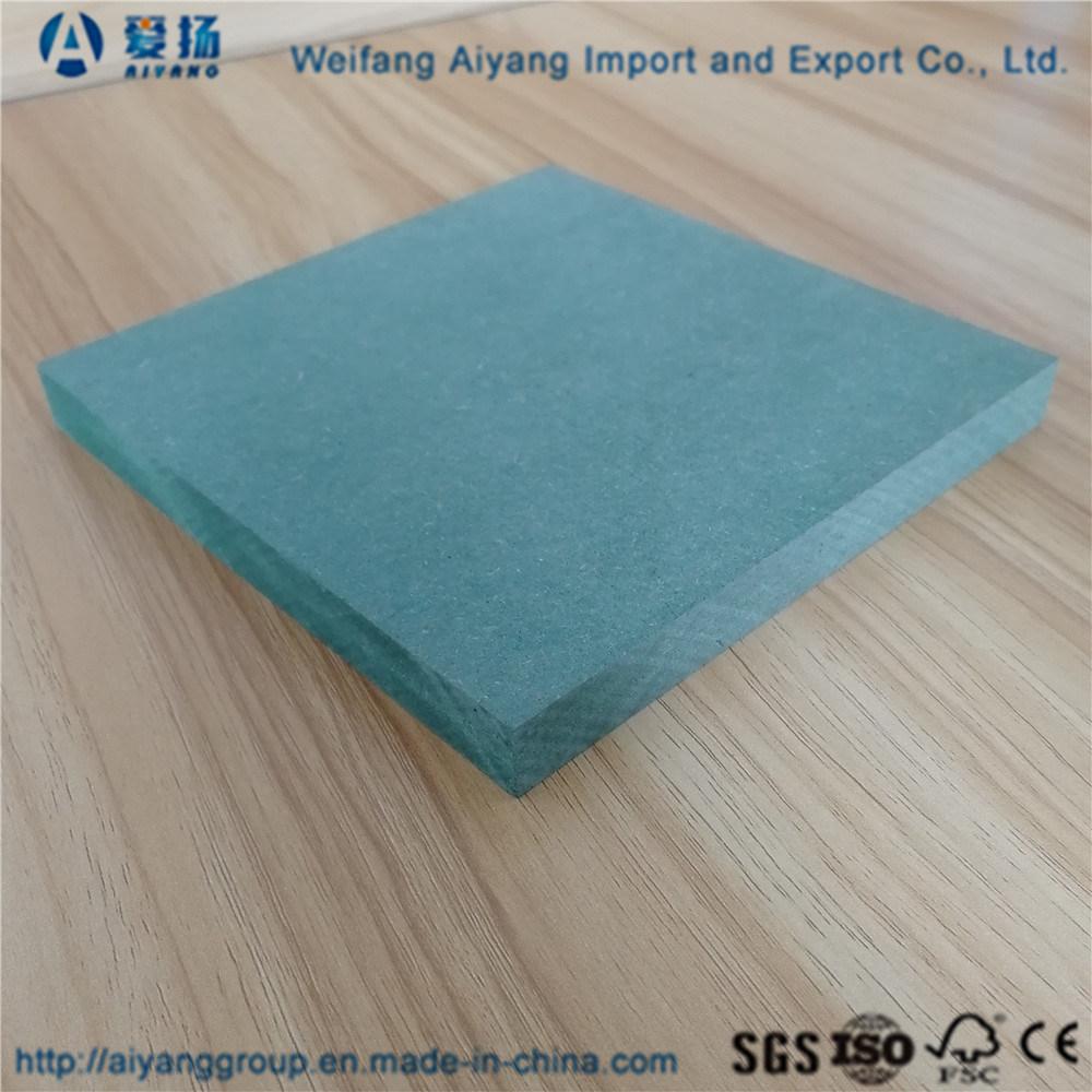 China Waterproof MDF Board / Hmr MDF / MDF Panels Green - China ...