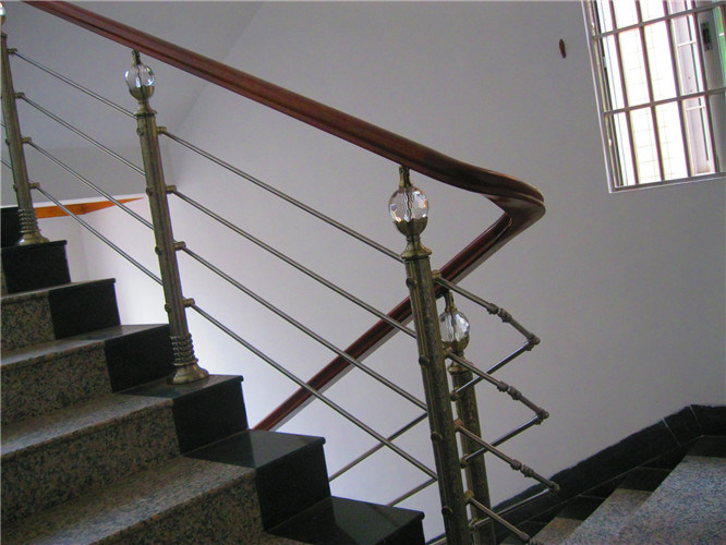 Modern Building Materials Wear Tube Wood Stair Handrail