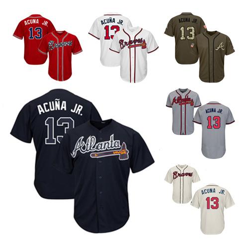 the latest 442f9 922be [Hot Item] Braves Jerseys 13 Ronald Acuna Jr Baseball Jerseys