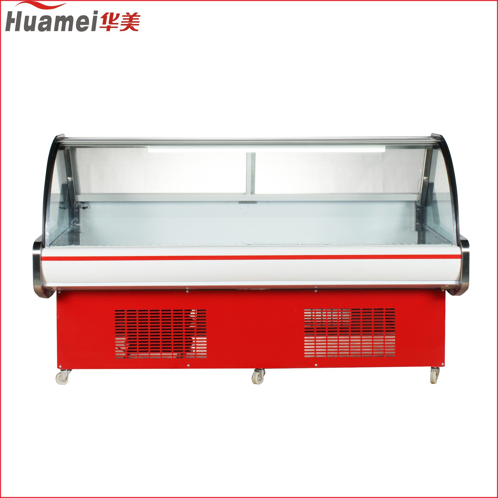 China Air Cooling Type Glass Door Deli Meat Showcase For Supermarket