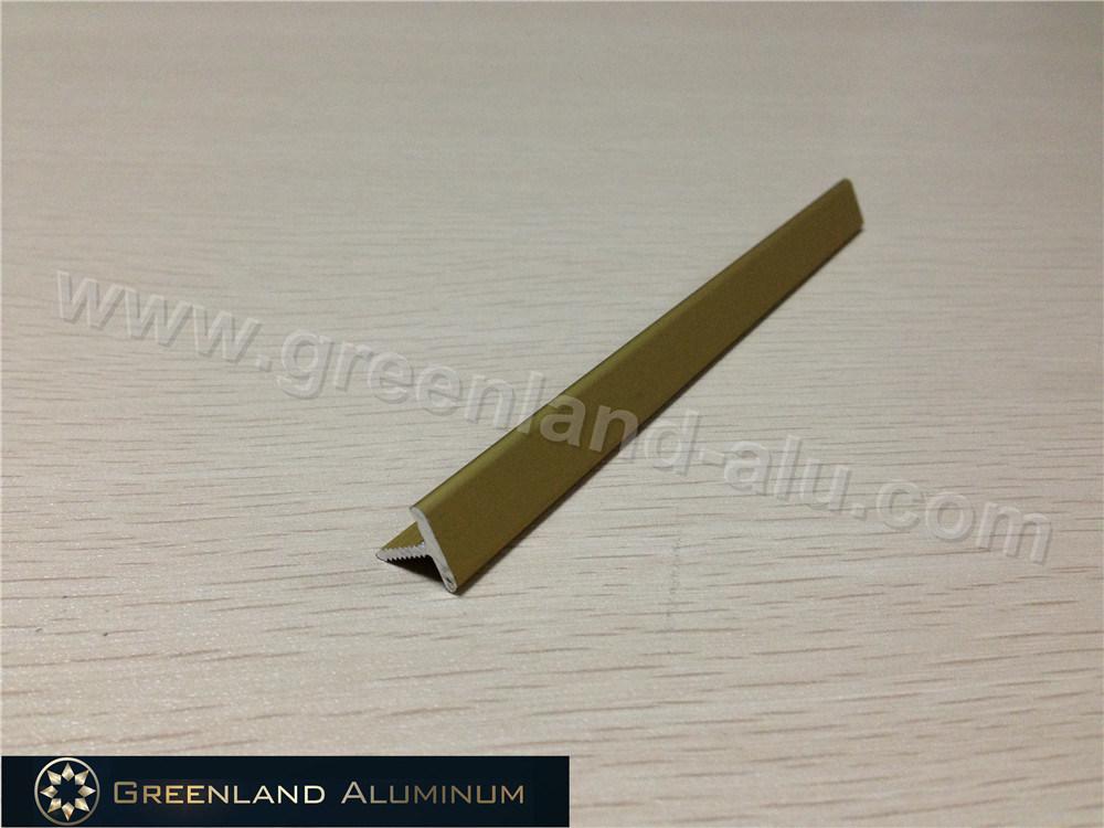 China Matt Gold Aluminum T Shape Transition Tile Trim