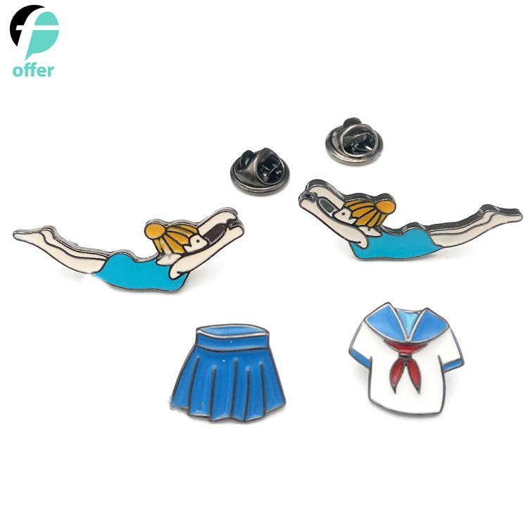Love Swimming School Uniform Skirt for Girl Drip Pin Badge pictures & photos