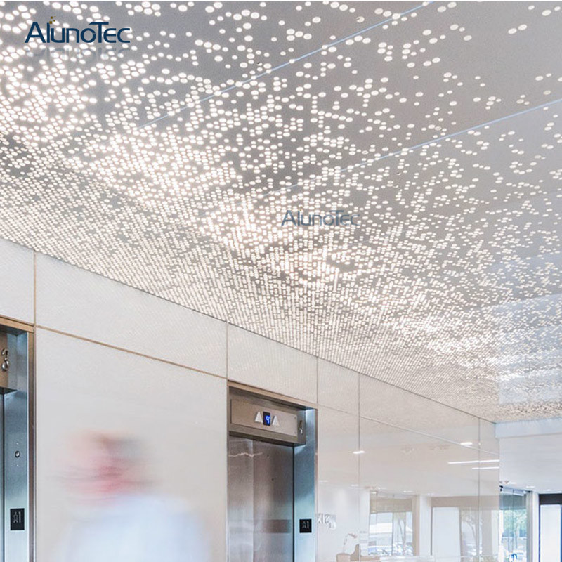 China Metal Aluminum Perforated Ceiling Panel For Indoor