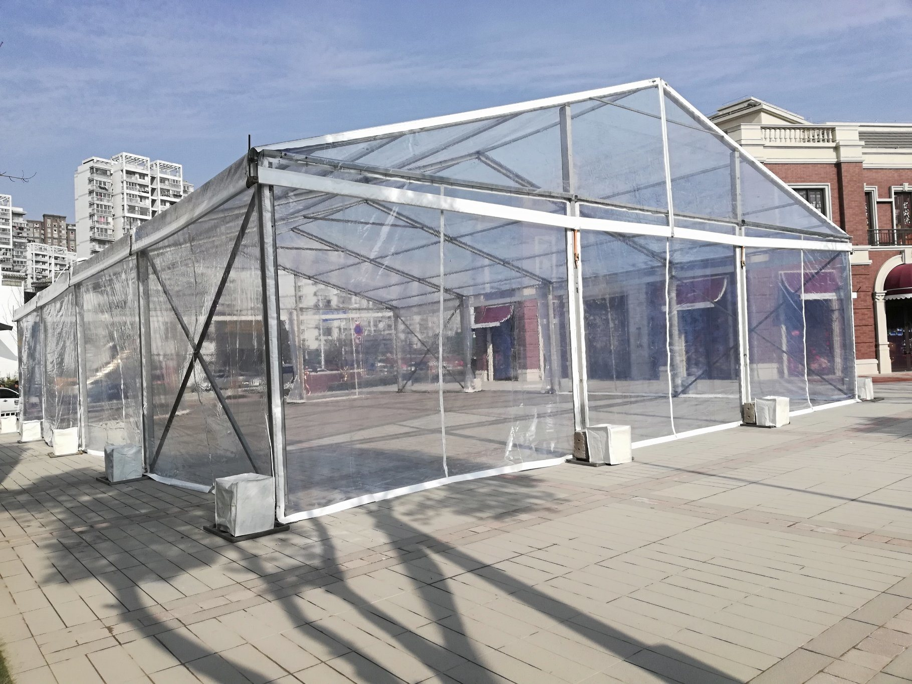 Tent poles not only provide stability to the structure but provide a perfect mix of beauty and functionality.