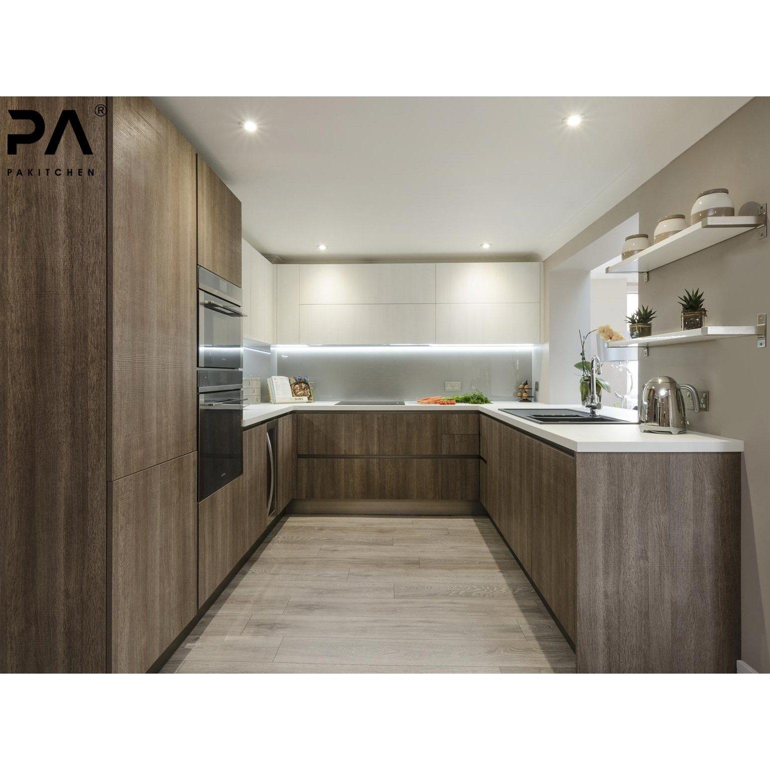Hot Item Best Price U Shaped Kitchen Furniture Pakistan Modern Wooden Melamine Kitchen Cabinetry