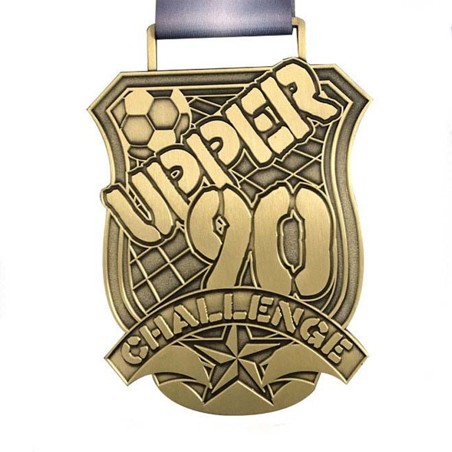 [Hot Item] Custom Wholesale Design Your Own Logo Souvenir 3D Embossed Blank  Gold Silver Bronze Sport Metal Medal with Medal Ribbon