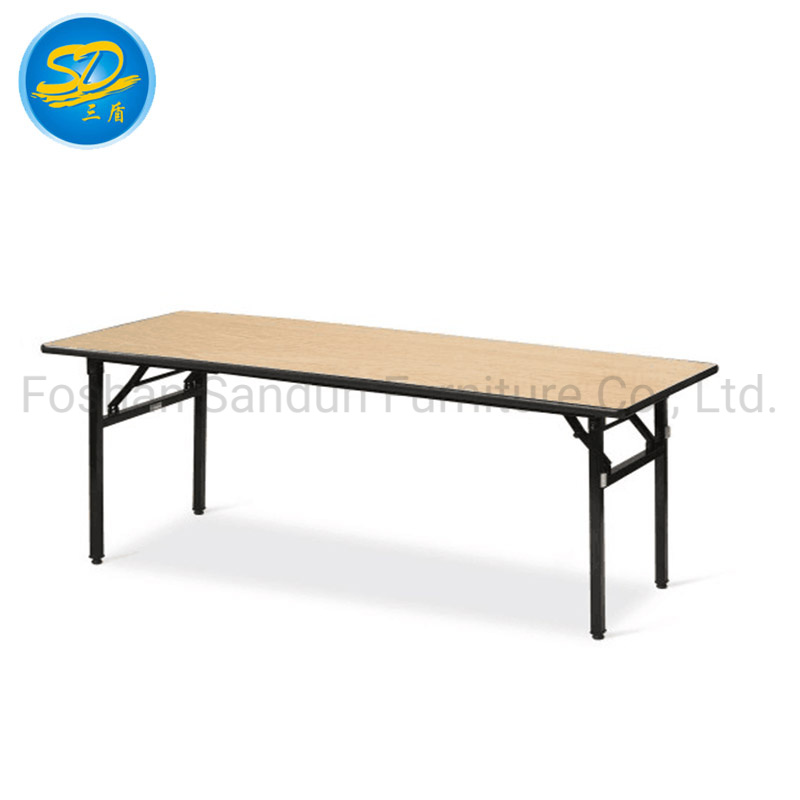 New 6/' x 2/' Wooden trestle table folds flat very strong Exhibition Table