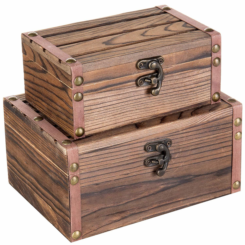 China Elegant 2-Pieces Wooden Gift Box Wooden Organization ...