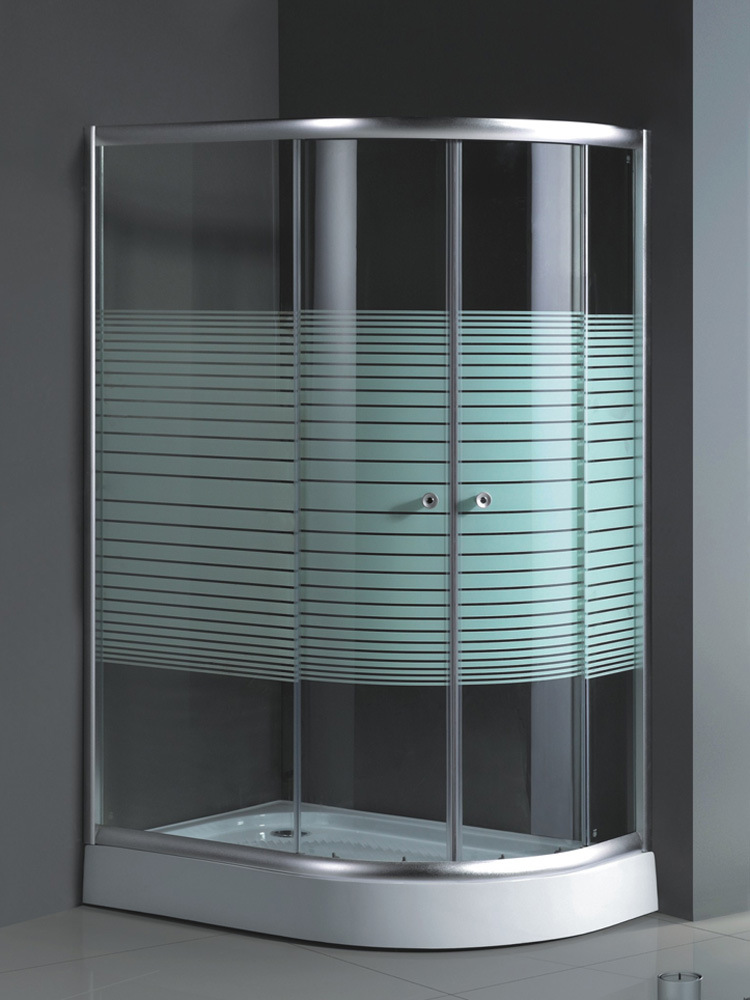 Oval Shaped Shower Doors with 6mm Tempered Glass (SD-025)