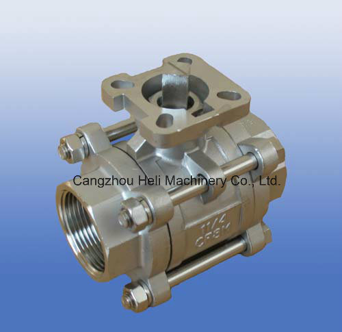 3PC Screwed/Thread Ball Valve with Mounting Pad ISO5211