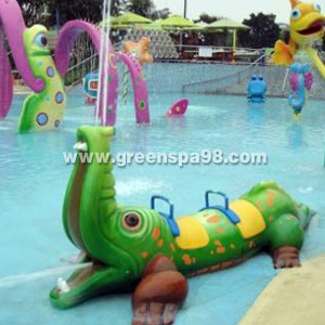 Crocodile Spray for Water Park, Aqua Play Equipment